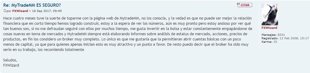 opinionesen foros de MytradeMM